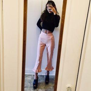 Bubblegum pink cropped Zara pants
